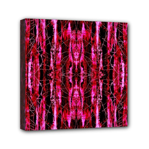 Pink Burgundy Traditional Pattern Mini Canvas 6  X 6