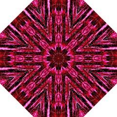 Pink Burgundy Traditional Pattern Folding Umbrellas by Costasonlineshop