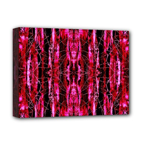 Pink Burgundy Traditional Pattern Deluxe Canvas 16  X 12