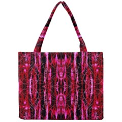 Pink Burgundy Traditional Pattern Mini Tote Bag by Costasonlineshop