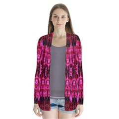 Pink Burgundy Traditional Pattern Cardigans