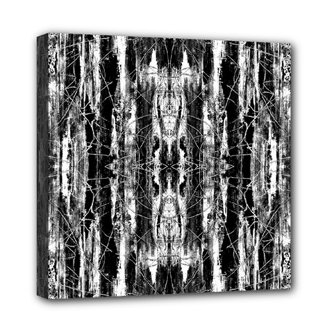 Black White Taditional Pattern  Mini Canvas 8  X 8  by Costasonlineshop