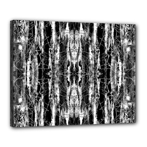 Black White Taditional Pattern  Canvas 20  X 16  by Costasonlineshop