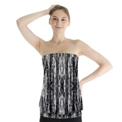 Black White Taditional Pattern  Strapless Top