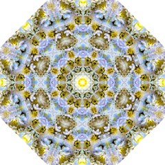 Blue Yellow Flower Girly Pattern, Hook Handle Umbrellas (small) by Costasonlineshop