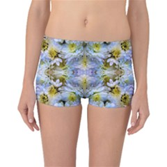 Blue Yellow Flower Girly Pattern, Boyleg Bikini Bottoms