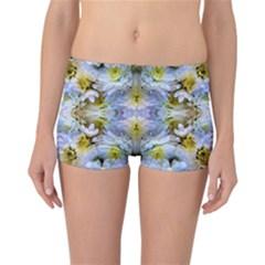 Blue Yellow Flower Girly Pattern, Reversible Bikini Bottoms