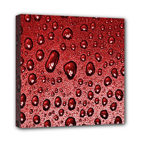 Red Water Mini Canvas 8  X 8  by AnjaniArt