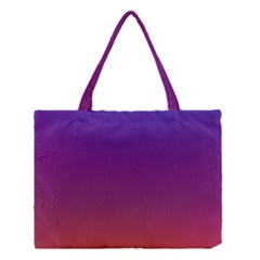 Purple Orange Blue Medium Tote Bag by AnjaniArt