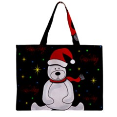 Polar Bear   Xmas Design Zipper Mini Tote Bag by Valentinaart