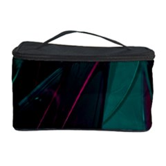 Abstract Green Purple Cosmetic Storage Case by Onesevenart