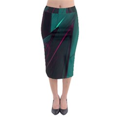 Abstract Green Purple Midi Pencil Skirt by Onesevenart