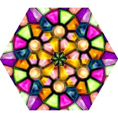 Glass Colorful Stained Glass Mini Folding Umbrellas by Onesevenart