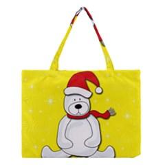 Polar Bear   Yellow Medium Tote Bag by Valentinaart