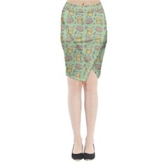 Hamster Pattern Midi Wrap Pencil Skirt by Onesevenart