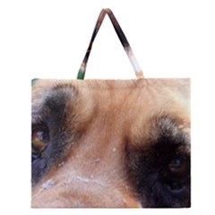 Bloodhound Eyes Zipper Large Tote Bag by TailWags