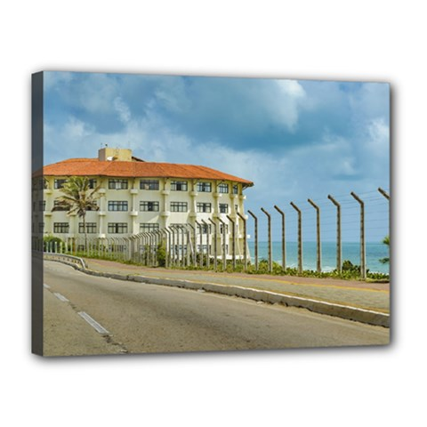 Eclectic Style Building Natal Brazil Canvas 16  X 12  by dflcprints