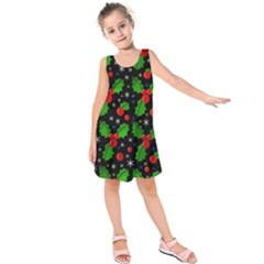 Xmas Magical Pattern Kids  Sleeveless Dress