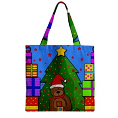 Xmas Gifts Zipper Grocery Tote Bag by Valentinaart