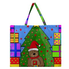 Xmas gifts Zipper Large Tote Bag by Valentinaart