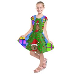 Xmas Gifts Kids  Short Sleeve Dress by Valentinaart