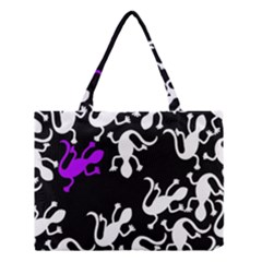 Purple Lizard  Medium Tote Bag by Valentinaart