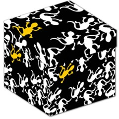 Yellow Lizard Pattern Storage Stool 12   by Valentinaart