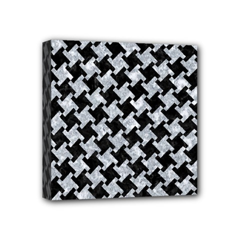 Houndstooth2 Black Marble & Gray Marble Mini Canvas 4  X 4  (stretched)