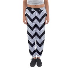Chevron9 Black Marble & Gray Marble (r) Women s Jogger Sweatpants