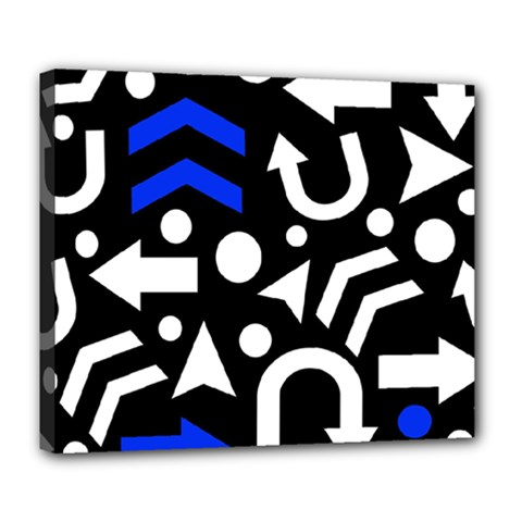 Right Direction   Blue  Deluxe Canvas 24  X 20   by Valentinaart