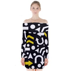 Right Direction   Yellow Long Sleeve Off Shoulder Dress by Valentinaart