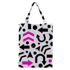 Magenta Right Direction Classic Tote Bag by Valentinaart