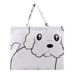 Coton De Tulear Cartoon Zipper Large Tote Bag by TailWags