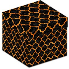 Tile1 Black Marble & Orange Marble Storage Stool 12  by trendistuff