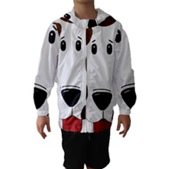 Dalmation 2 Sided Liver Hooded Wind Breaker (Kids) by TailWags