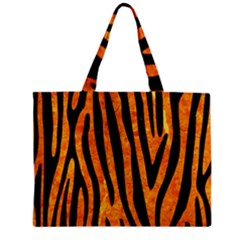 Skin4 Black Marble & Orange Marble Zipper Mini Tote Bag by trendistuff
