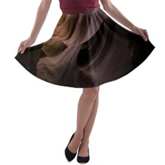Canyon Desert Landscape Pattern A-line Skater Skirt by Zeze