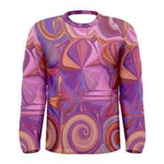 Candy Abstract Pink, Purple, Orange Men s Long Sleeve Tee by theunrulyartist