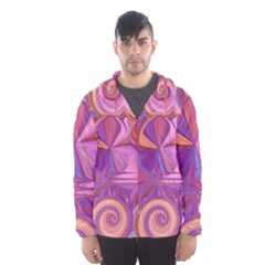 Candy Abstract Pink, Purple, Orange Hooded Wind Breaker (men) by theunrulyartist