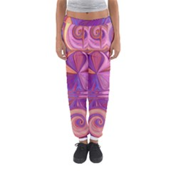Candy Abstract Pink, Purple, Orange Women s Jogger Sweatpants by theunrulyartist