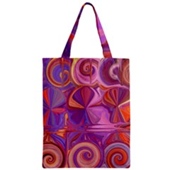 Candy Abstract Pink, Purple, Orange Zipper Classic Tote Bag by digitaldivadesigns