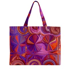 Candy Abstract Pink, Purple, Orange Medium Tote Bag by digitaldivadesigns