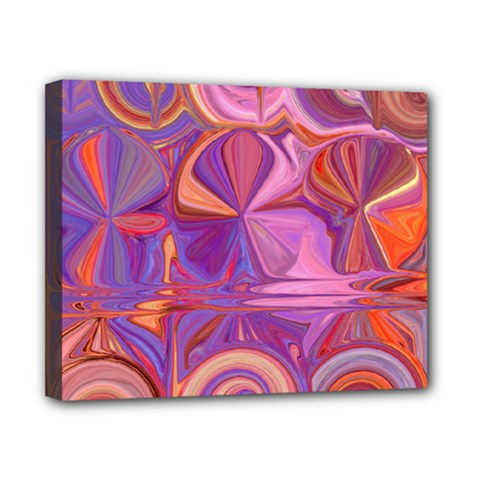 Candy Abstract Pink, Purple, Orange Canvas 10  X 8  by theunrulyartist