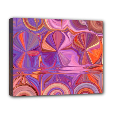 Candy Abstract Pink, Purple, Orange Deluxe Canvas 20  X 16   by digitaldivadesigns
