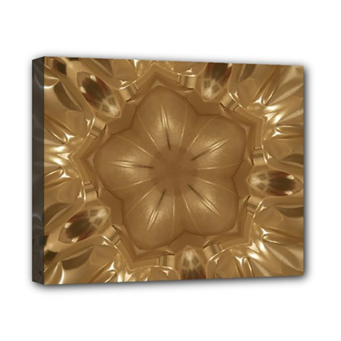 Elegant Gold Brown Kaleidoscope Star Canvas 10  X 8  by yoursparklingshop