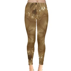 Elegant Gold Brown Kaleidoscope Star Leggings  by yoursparklingshop