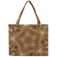 Elegant Gold Brown Kaleidoscope Star Mini Tote Bag by yoursparklingshop