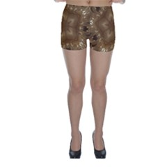 Elegant Gold Brown Kaleidoscope Star Skinny Shorts by yoursparklingshop