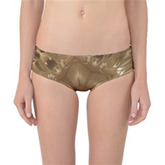 Elegant Gold Brown Kaleidoscope Star Classic Bikini Bottoms by yoursparklingshop