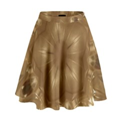 Elegant Gold Brown Kaleidoscope Star High Waist Skirt by yoursparklingshop